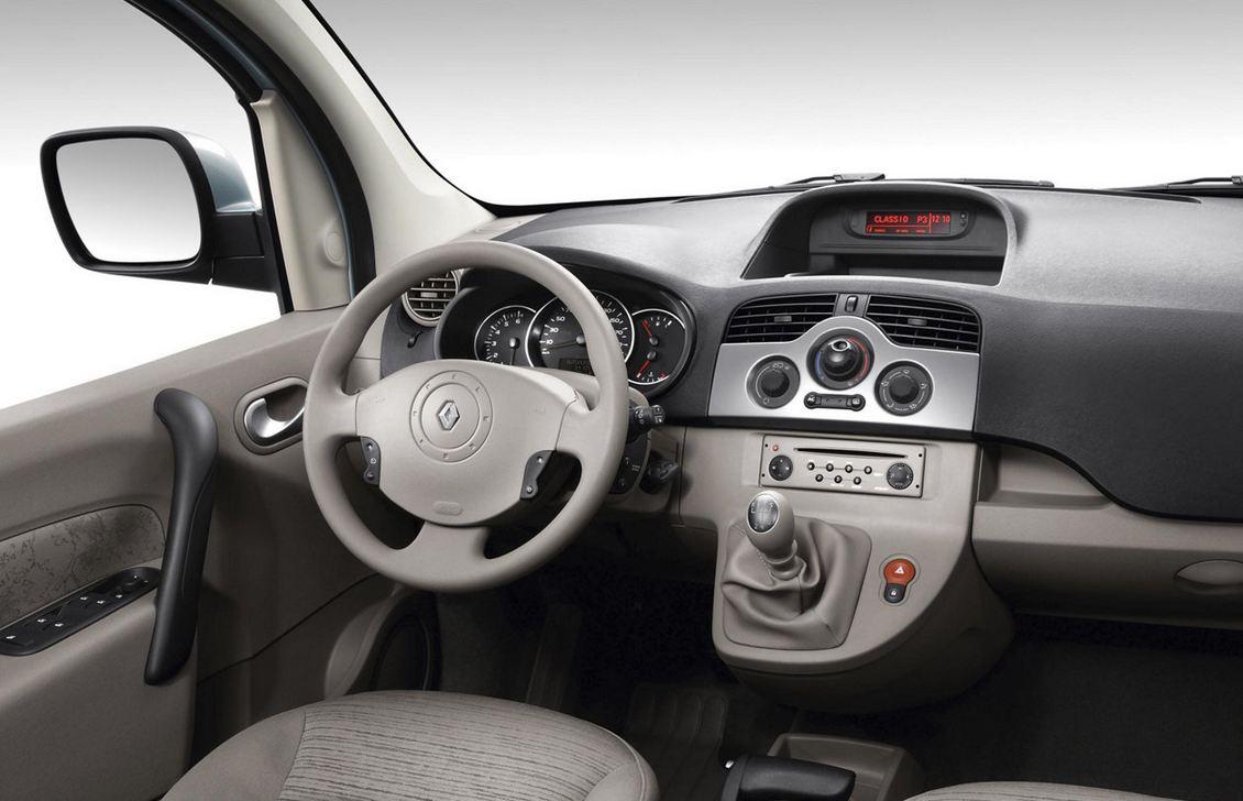 Плавные формы внутреннего пространства Renault Kangoo