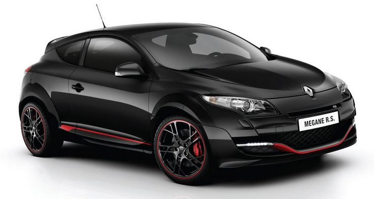 Черный Рено Меган RS Спорт вид сбоку