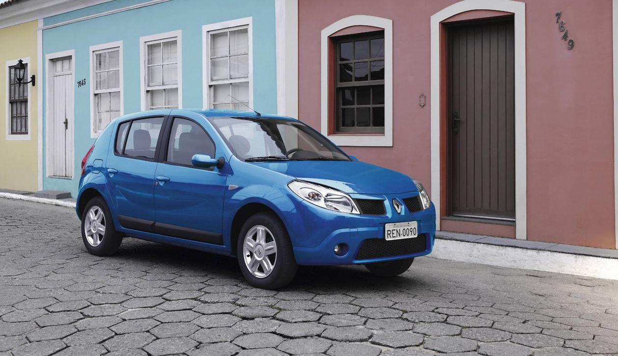 Синий Renault Sandero